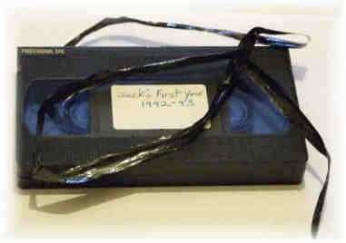 Broken / Damaged VHS tape (Video Tape Repair Service)
